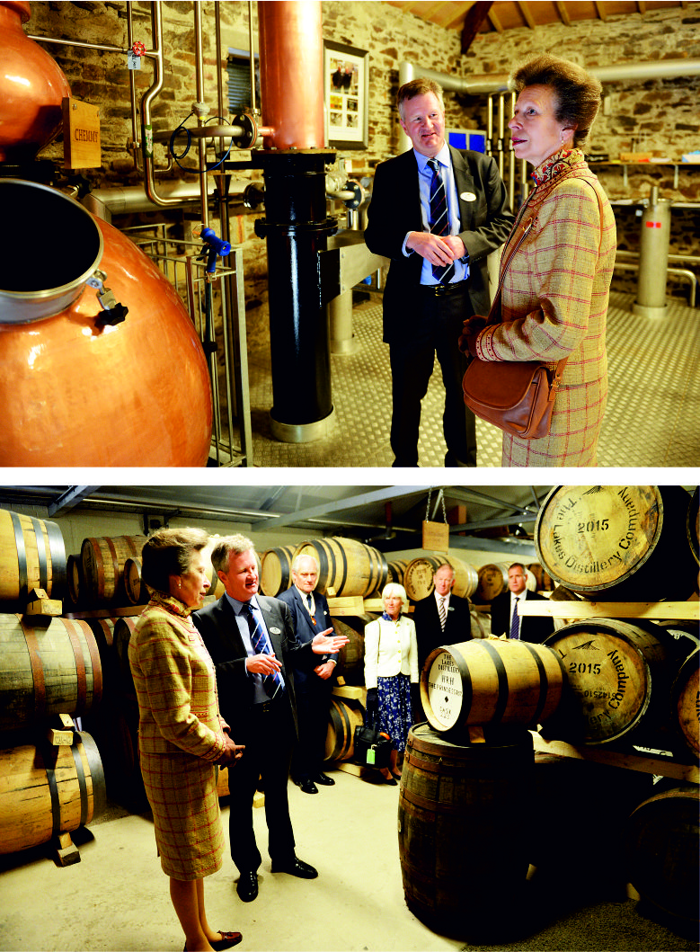 HRH Princess Ann opens The Lakes Distillery